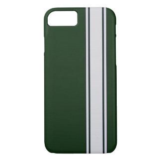 Grüner u. weißer Kohlenstoff-Faser-Streifen iPhone iPhone 8/7 Hülle