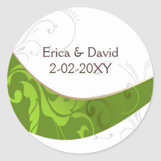 grüner Umschlag Aufkleber