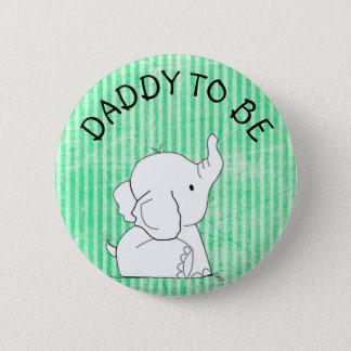 Grüner und blauer Elefant-Baby-Duschen-Button-Vati Runder Button 5,7 Cm