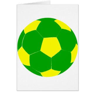 Grüner und gelber Fußball Karte