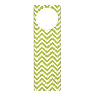 Grüner und weißer Zickzack Stripes Zickzack Muster Türanhänger