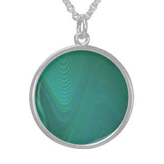 Grüner Wirbel Sterling Silberkette