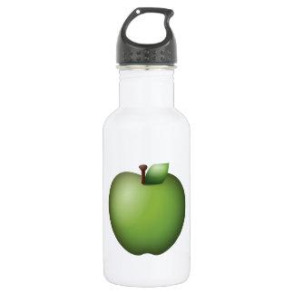 Grünes Apple - Emoji Edelstahlflasche