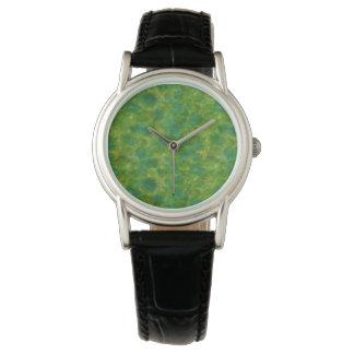 Grünes Aquarell Armbanduhr
