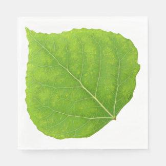 Grünes Aspen-Blatt #11 Papierservietten