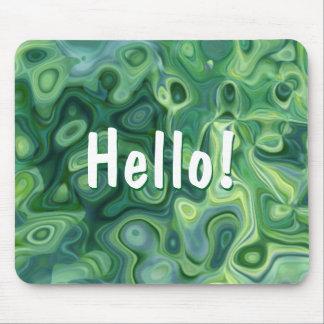 Grünes Bio Muster-abstrakte Kunst Mauspad