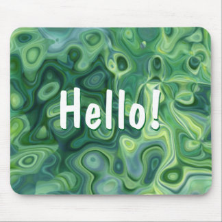 Grünes Bio Muster-abstrakte Kunst Mousepad