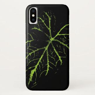 Grünes Blatt iPhone X Hülle