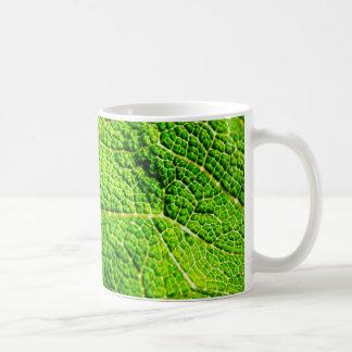 Grünes Blatt-Makro Tasse