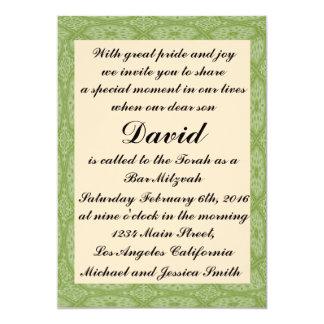 Grünes Diamant-Bar Mitzvah/Geburtstags-Einladung Karte