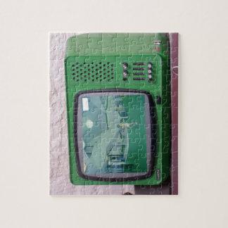 Grünes Fernsehen Puzzle