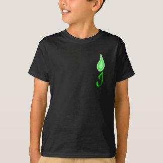 Grünes Flammen-Logo T-Shirt