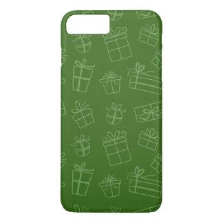 Grünes flüchtiges Geschenk-Muster iPhone 8 Plus/7 Plus Hülle