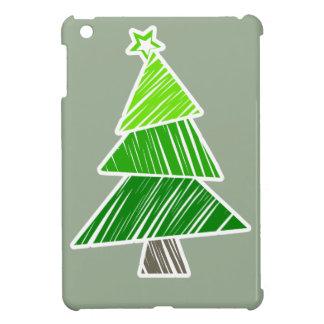 Grünes flüchtiges Weihnachtsbaum iPad Minifall iPad Mini Hülle
