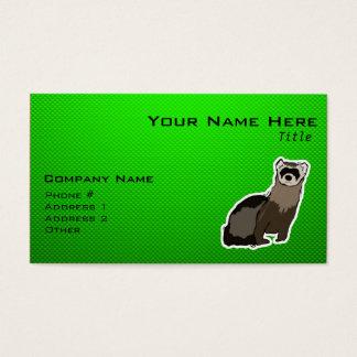 Grünes Frettchen Visitenkarte