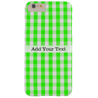 Grünes Gingham-Neonmuster durch Shirley Taylor Barely There iPhone 6 Plus Hülle