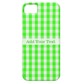 Grünes Gingham-Neonmuster durch Shirley Taylor iPhone 5 Schutzhülle