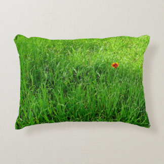 Grünes Gras-Fotografie Deko Kissen