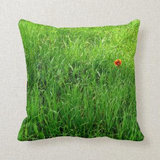 Grünes Gras-Fotografie Kissen