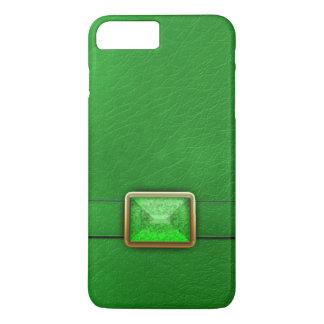 Grünes Imitat Leder und Edelstein-Telefon-Kasten iPhone 7 Plus Hülle