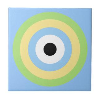 Grünes Kombinations-Bullauge durch Shirley Taylor Kleine Quadratische Fliese