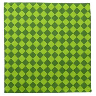 Grünes Kombinations-Diamant-Muster durch STaylor Serviette