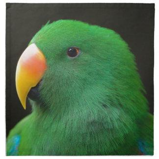 Grünes Papageien-Profil Serviette