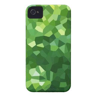 Grünes Polygon-Form-beflecktes Glas-Mosaik iPhone 4 Case-Mate Hülle