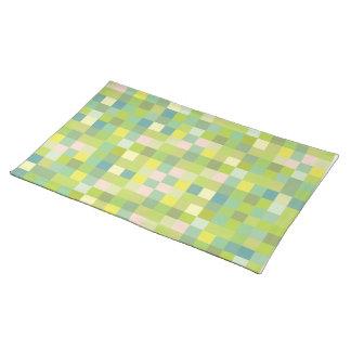 Grünes Quadrat-Muster-moderne Designer-Tischsets
