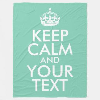 Grünes Seafoam und Weiß behält Ruhe und Ihren Text Fleecedecke