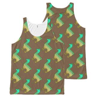 Grünes tropisches Lama-Trägershirt-Muster Komplett Bedrucktes Tanktop