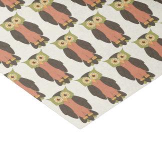 Grünes und orange Eulen-Seidenpapier Seidenpapier