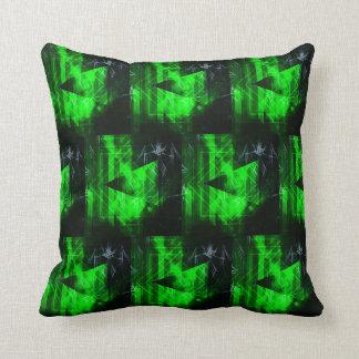 Grünes und schwarzes geometrisches abstraktes kissen