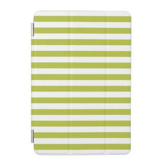 Grünes und weißes Streifen-Muster iPad Mini Hülle