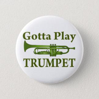 Grünes verändertes erhalten, um Trompete-Geschenk Runder Button 5,1 Cm