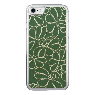 Grünes wunderliches Ikat Carved iPhone 8/7 Hülle