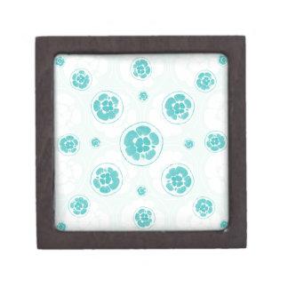Grünes Zitronen-Muster Schachtel