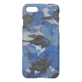 Grunge-blaue Camouflage-cooles Tarnungs-Muster iPhone 8/7 Hülle