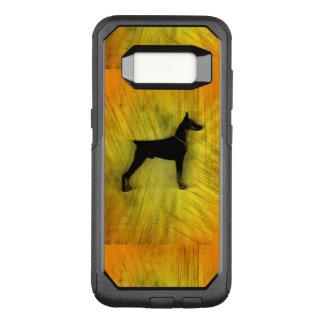 Grunge-Dobermannpinscher-Silhouette OtterBox Commuter Samsung Galaxy S8 Hülle