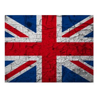 grunge Union Jack - britische Postkarte