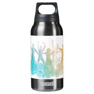 Gruppe Freunde, die für Freude im Aquarell Isolierte Flasche
