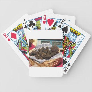Gruppe italienische teure schwarze Trüffeln Pokerkarten