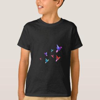 Gruppe verschiedene Origami Kolibris T-Shirt