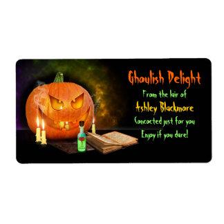 Gruselige Kürbis-Halloween-Backen-Aufkleber Versand Aufkleber
