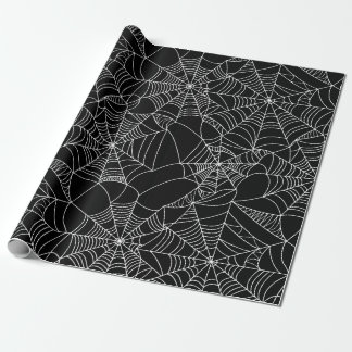 Gruselige Spinnen-Netze Geschenkpapier