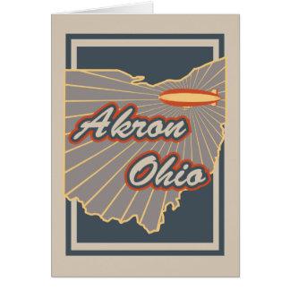 Gruß-Karte Akrons, Ohio - Reise-Druck v2 Karte