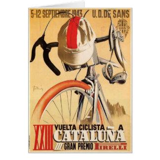 Gruß-Karte mit altem Radrennen-Plakat Karte