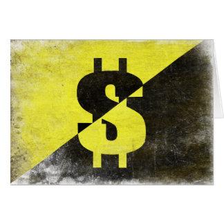 Gruß-Karte mit cooler Anarcho-Kapitalist Flagge Grußkarte