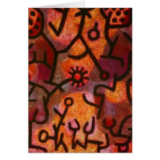 Gruß-Karte Paul Klees Flora di Roccia Karte