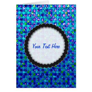 Gruß-Karten-Tupfen-Schein-Juwelen Karte